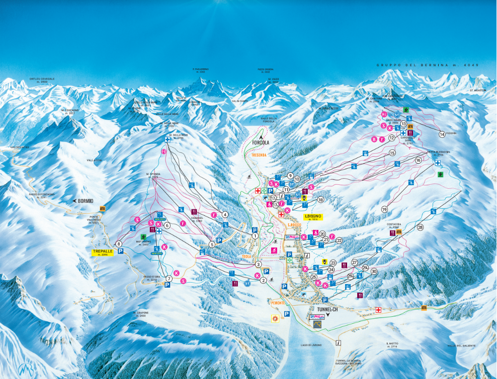 Livigno Piste Map